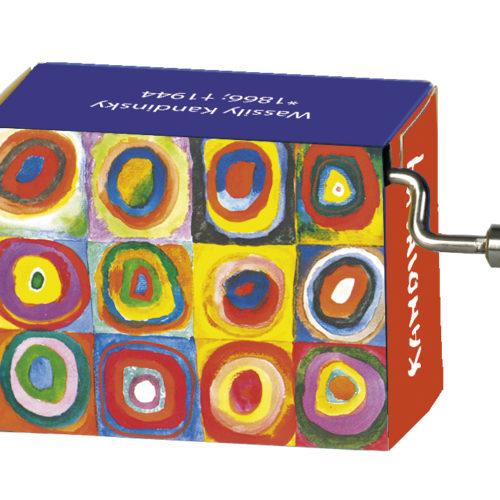 Muziekdoosje kunstenaars Kandinsky Color Study Squares Mozart Magic Flute