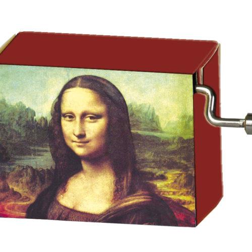 Muziekdoosje kunstenaars Leonardo Da Vinci Mona Lisa met melodie Für Elise
