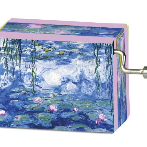 Muziekdoosje kunstenaars Monet Waterlelies met melodie van Tschaikowsky Flower Waltz