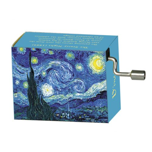 Muziekdoosje kunstenaars Van Gogh Starry night melodie Flower Waltz van Tchaikowski