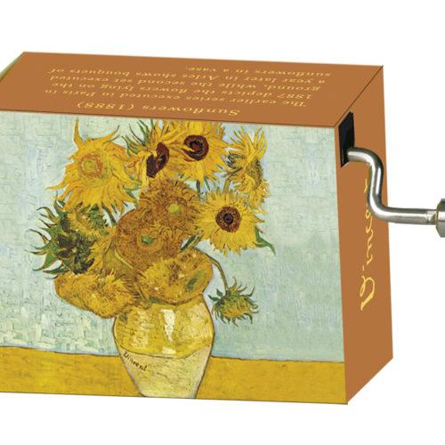 Muziekdoosje kunstenaars Van Gogh Zonnebloemen met melodie Spring van Vivaldi