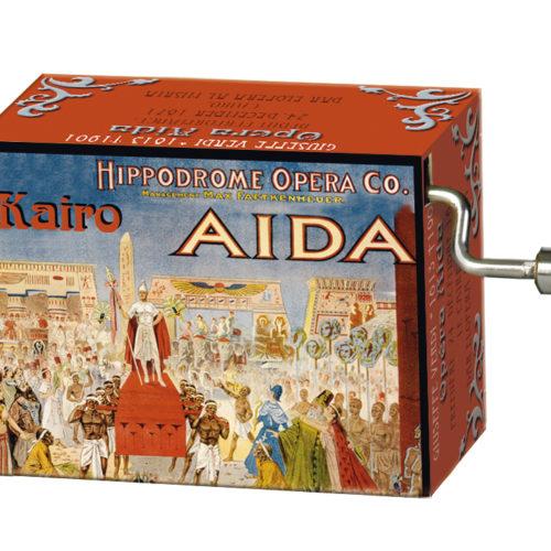 Muziekdoosje opera Aïda met melodie Triumphal march