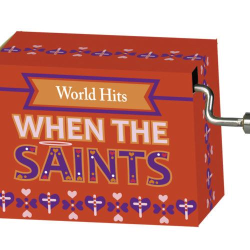 Muziekdoosje wereldhits met melodie van When the saints