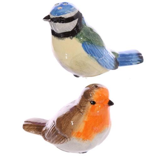 Peper en zoutstel vogels roodborstje en vink