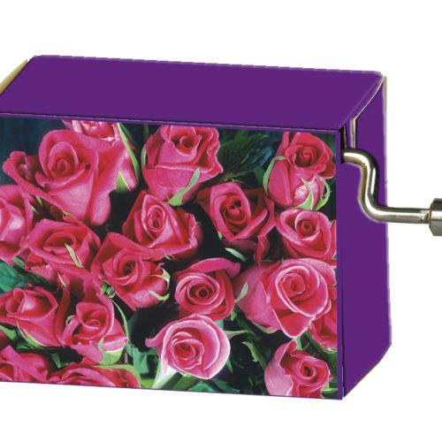 Speeldoosje bloemen bos rozen met melodie Für Elise
