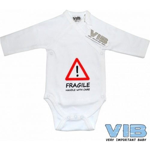 VIb baby romper Fragile Handle with care