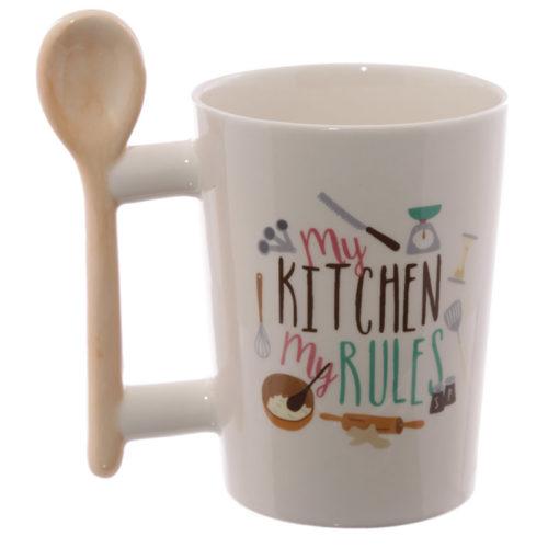 Mok My kitchen rules met pollepel als oor