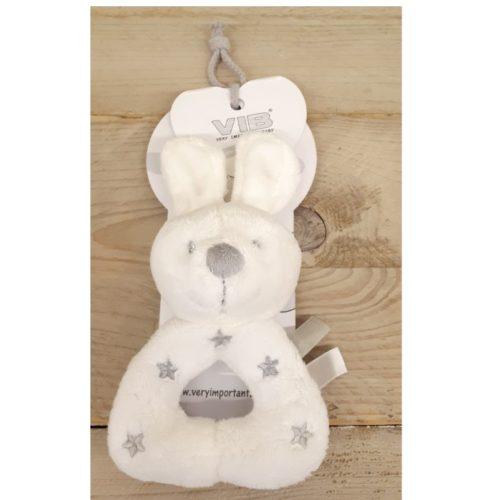 Rammelaar konijn wit met sterren van Very Important Baby