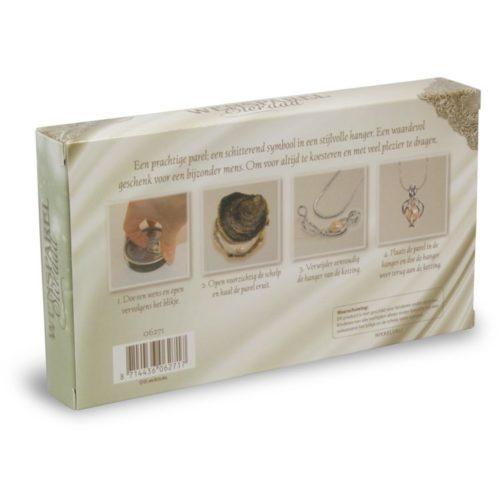 sieraad halsketting met wensparel beschermengel