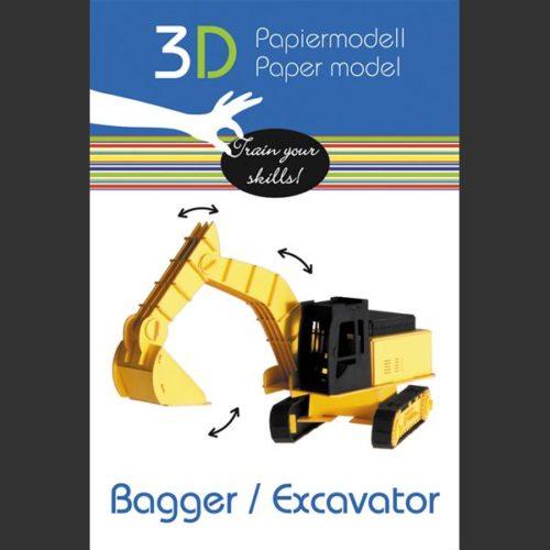 3D puzzel en bouwpakket karton graafmachine