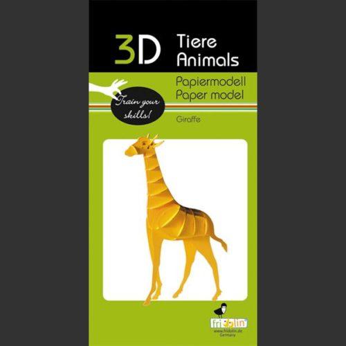 3D puzzel en bouwpakket karton model giraffe