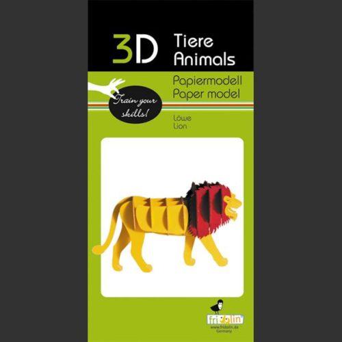 3D puzzel en bouwpakket karton model leeuw