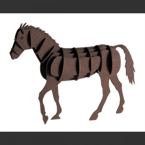 3D puzzel en bouwpakket karton model paard