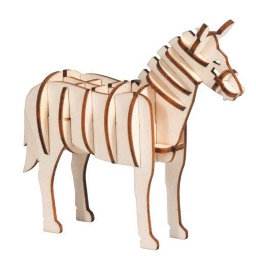 3D puzzel paard van hout