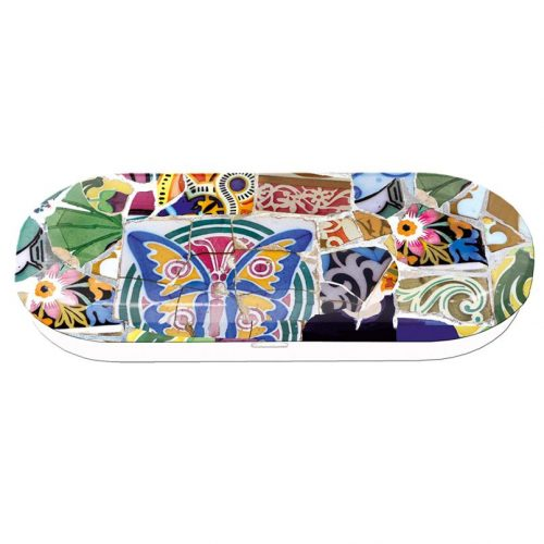 Brillenkoker kunstenaars Gaudi detail
