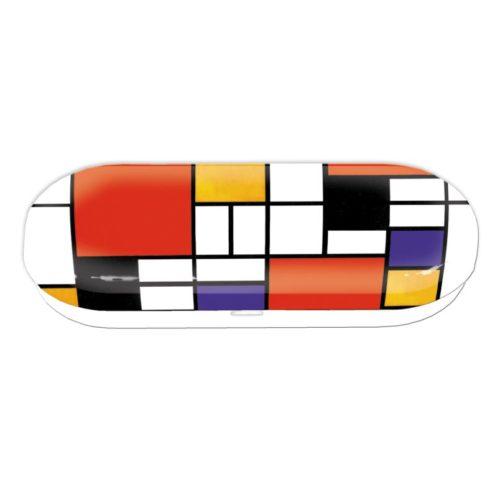 Brillenkoker kunstenaars Mondriaan style