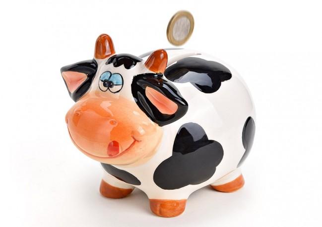Spaarpot koe van keramiek