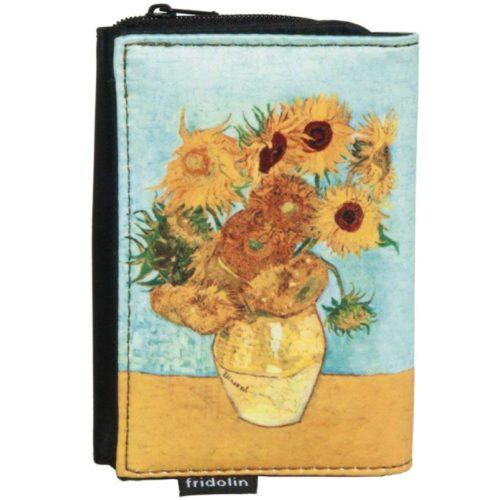 portemonnee kunstenaars Vincent van Gogh zonnebloemen