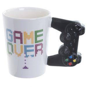 Mok gaming game over met controller als oor