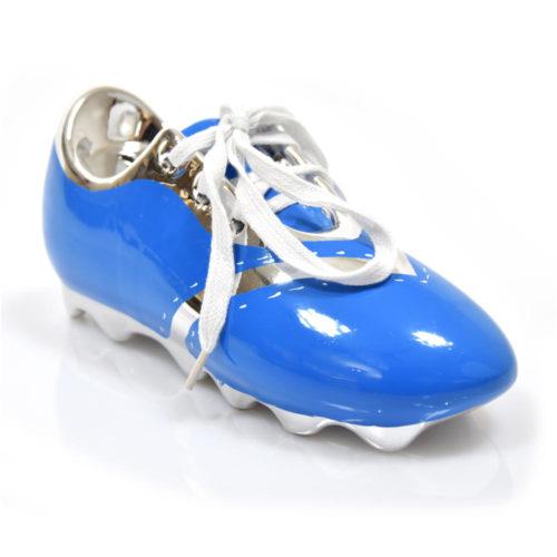 Spaarpot voetbal schoen van keramiek in 4 kleuren