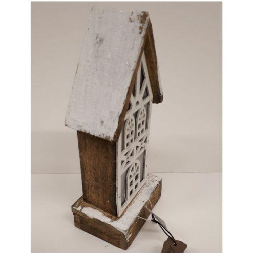 vHandgemaakt houten kersthuisje met led verlichting