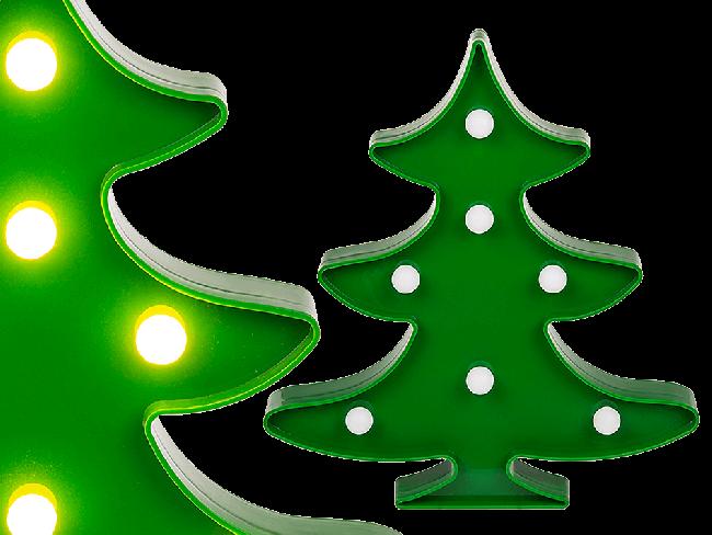 Kunststof kerstboom 22 cm hoog met LED verlichting