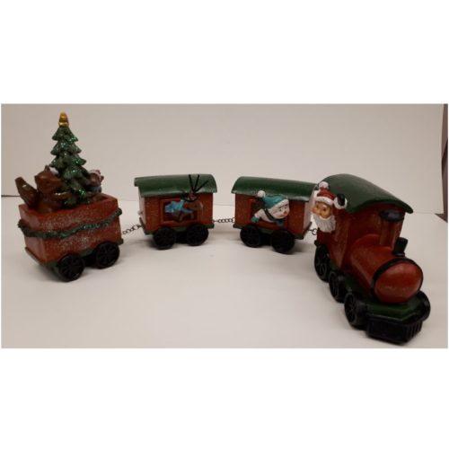 Kersttrein met kerstman kerstboom en rendier