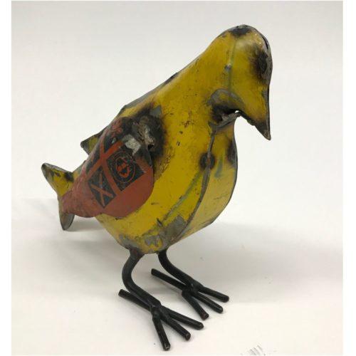 Metalen beeldje duif gemaakt van hergebruikte olievaten by Varios