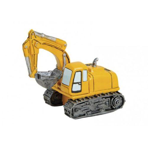 Spaarpot graafmachine excavator geel