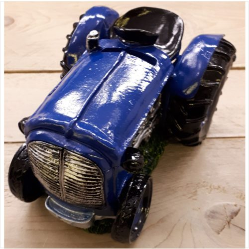 Grote spaarpot tractor blauw