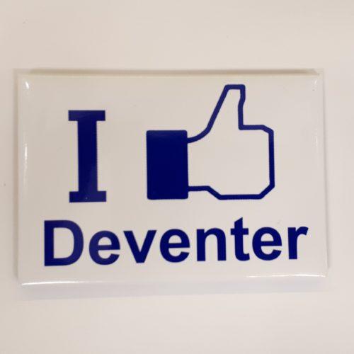 Koelkastmagneet I like Deventer van metaal