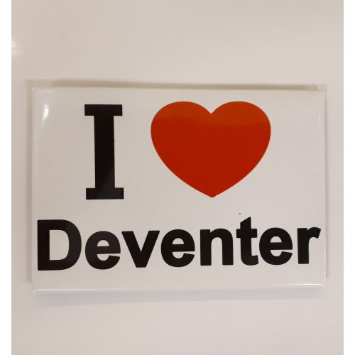 Koelkastmagneet I love Deventer van metaal