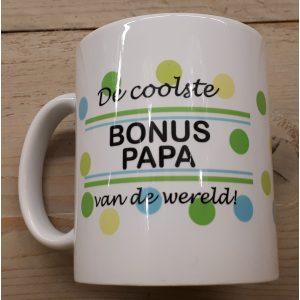 Mok De coolste bonus papa van de wereld