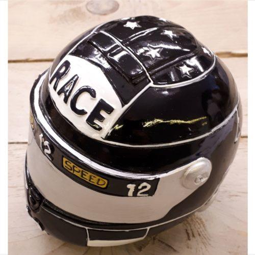 Spaarpot race motor helm zwart