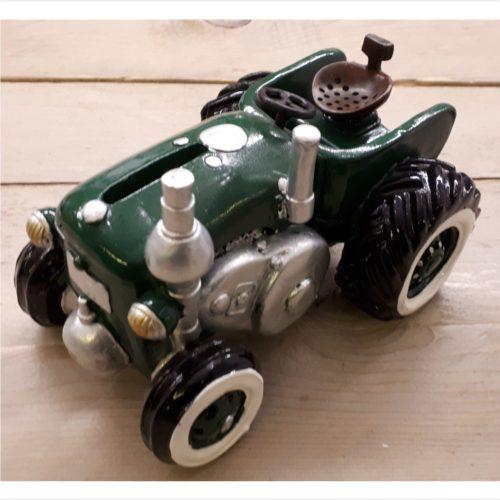 Spaarpot tractor groen erg gedetailleerd