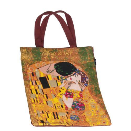 Draagtas katoen Kunstenaars Gustav Klimt De Kus