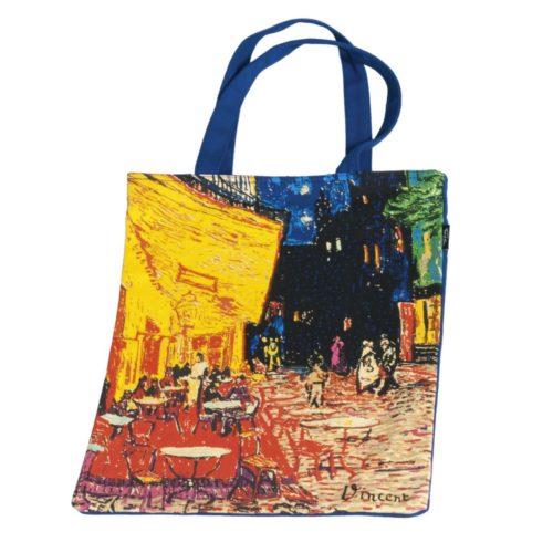 Draagtas katoen kunstenaars Vincent van Gogh Café de Nuit