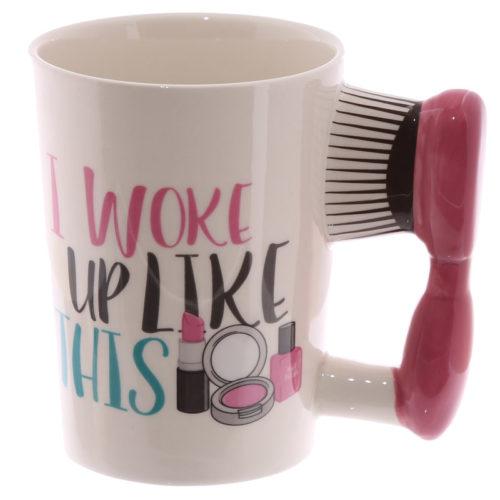 Mok met haarborstel als oor I woke up like this