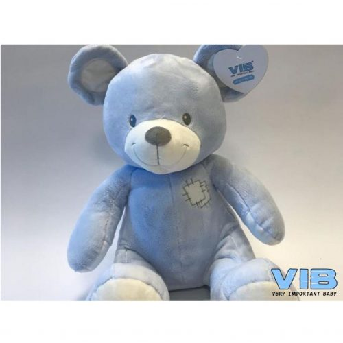 Pluche beer blauw 25 cm hoog van Very Important Baby-VIB