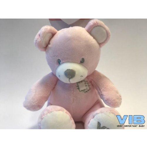 Pluche beer roze 25 cm hoog van Very Important Baby-VIB