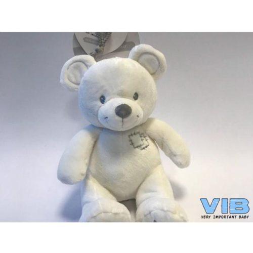 Pluche beer wit 25 cm hoog van Very Important Baby-VIB