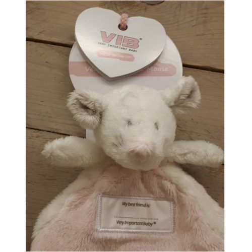 Pluche knuffel muis Doudou roze Very Important Baby VIB