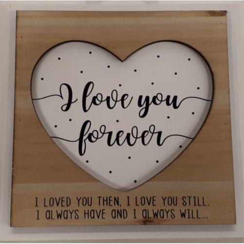 Fotolijstje met tekst I love you forever