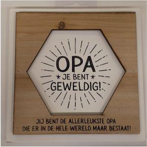 Fotolijstje met tekst OPA je bent geweldig