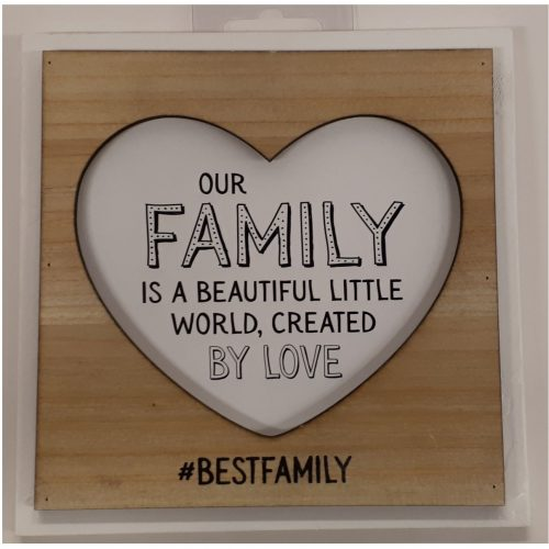 Fotolijstje met tekst Our family is a beautiful little world