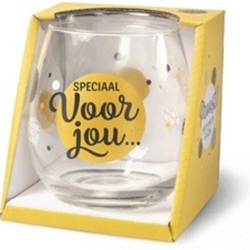 Water- wijnglas met tekst Speciaal voor jou
