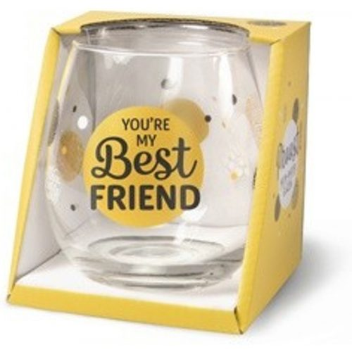 Water- wijnglas met tekst over vriendschap You are my best friend