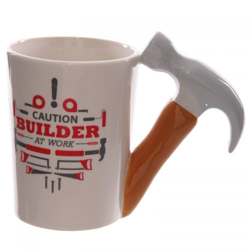 Mok bouwvakker gereedschap hamer