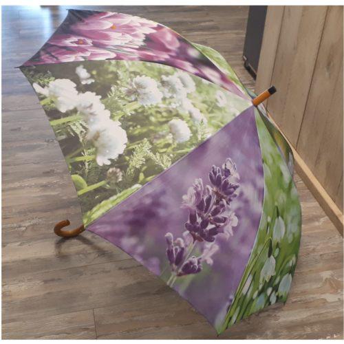 Paraplu voorjaar lente vrolijke bloemen van Esschert design