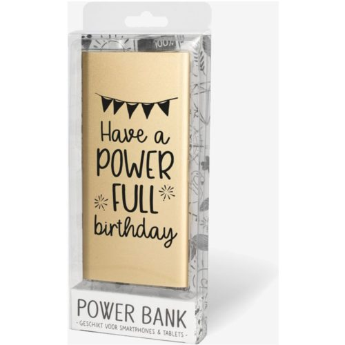 Powerbanks met tekst